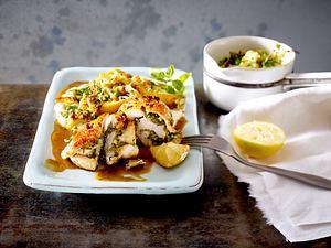 Hähnchenrouladen mit Zitronen-Gremolata und Blumenkohl Rezept