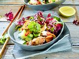 Hähnchensalat mit Gurke und Kokosdressing Rezept