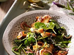 Hähnchensalat mit Babyspinat, Brunnenkresse und Zitronen-Thymian-Vinaigrette Rezept