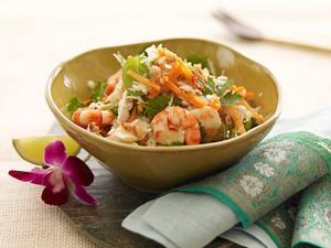 Hähnchensalat mit Garnelen Rezept