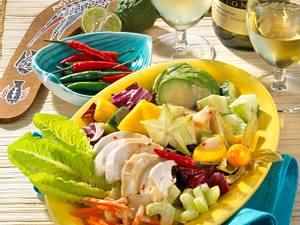 Hähnchensalat mit Sate-Soße Rezept