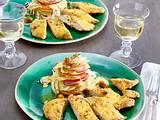 Hähnchenschnitzel mit Zitronenkruste Rezept