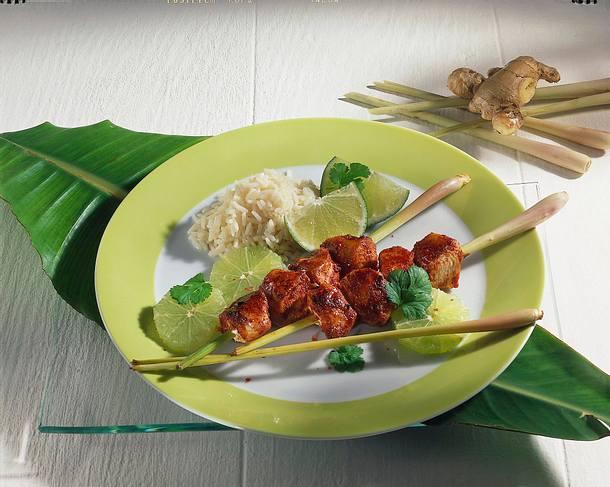Hähnchenspieße in Tandoori Rezept