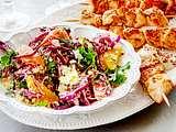 Hähnchenspieße mit Couscoussalat & Dukkahdip Rezept