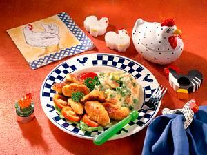 Hähnchensticks mit Gemüsepüree Rezept