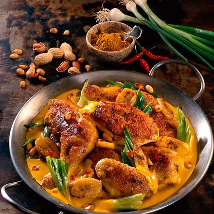 Hähnchenteile in Curry-Sahne-Soße Rezept