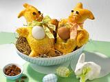 Häschen-Brötchen mit Ei Rezept