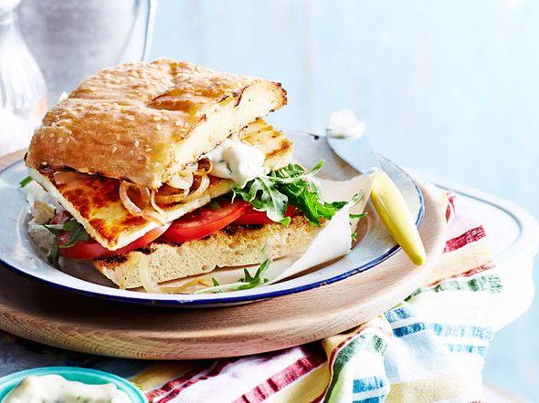 """Halloumi-Sandwich """"Rockt bei Hunger"""" Rezept"""