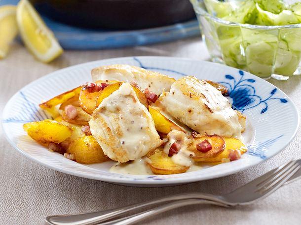 Hamburger Pannfisch mit Bratkartoffeln Rezept