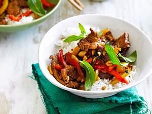 Happy-Paprika-Stir-fry mit Schweinefilet Rezept