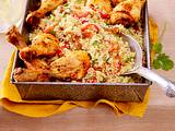 Harissa-Hähnchen mit süß-pikantem Couscous Rezept