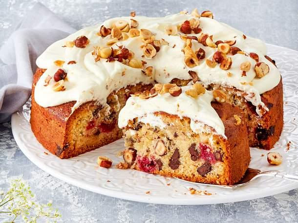 Haselnuss-Kirsch-Kuchen Rezept