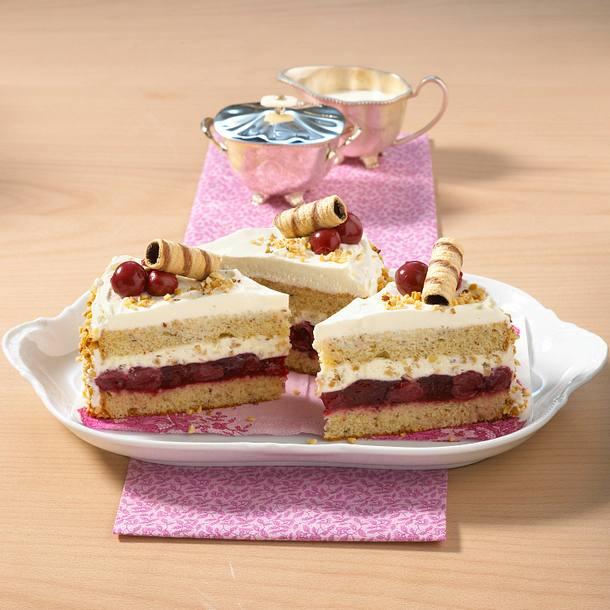 Haselnuss-Kirsch-Torte Rezept