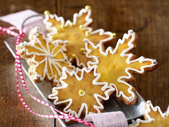Haselnuss-Schneeflocken mit Ahornsirup Rezept