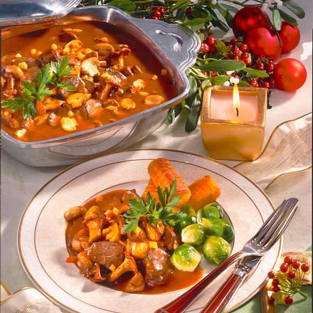 Hasen-Ragout mit feinen Pilzen Rezept