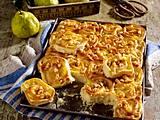 Hefe-Pudding-Schnecken vom Blech Rezept