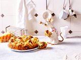 Heiße Flammkuchen-Schnecken Rezept