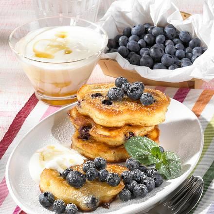 Heidelbeer-Buttermilch-Pancakes  Rezept