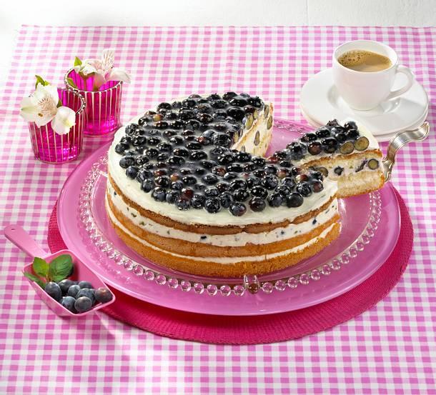Heidelbeer-Pistazien-Torte Rezept