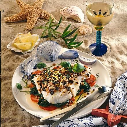 Heilbutt mit Olivenkruste Rezept