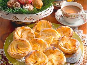 Heiße Apfeltörtchen Rezept