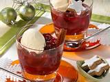 Heiße Punschkirschen mit Vanilleeis Rezept