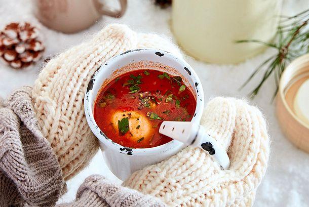 Heiße Tasse Shakshuka-Style Rezept