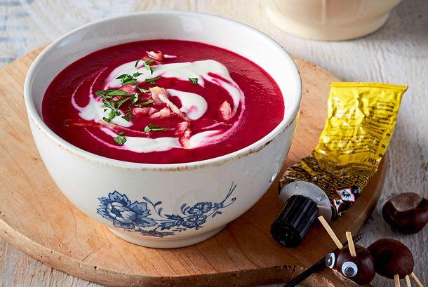 Heißes Schnäppchen: Rote-Bete-Schmand-Suppe Rezept