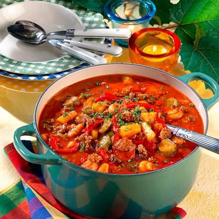 Helau und Alaaf-Topf (Hackfleisch-Tomaten-Topf) Rezept