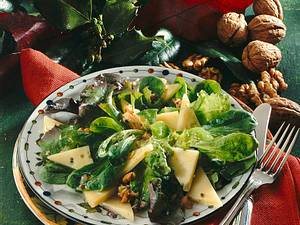 Herbstlicher Blattsalat Rezept