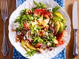 Herbstsalat mit Birnen, Walnüssen & Bacon Rezept