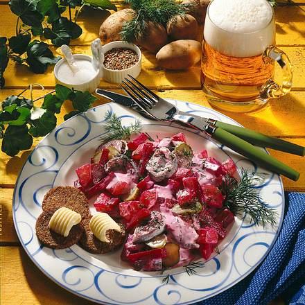 Heringssalat mit roter Bete Rezept