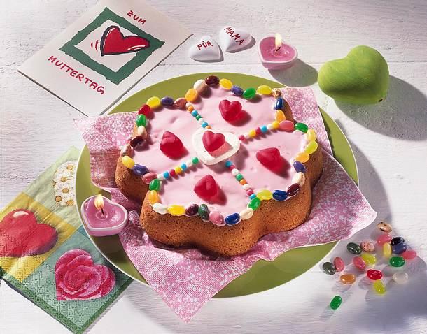 Herz-Glücksklee-Kuchen Rezept
