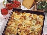 Herzhafte-Blech-Pizza Rezept