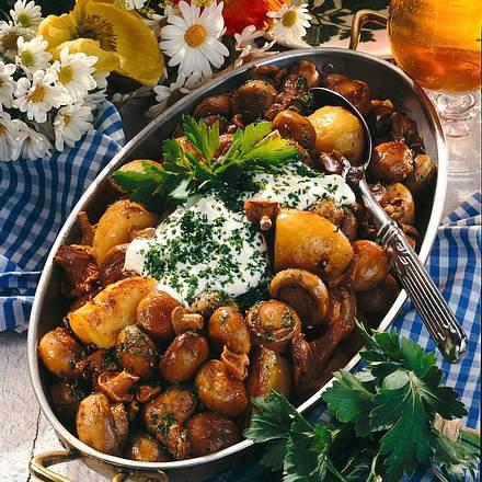 Herzhafte Pilz-Kartoffel-Pfanne Rezept