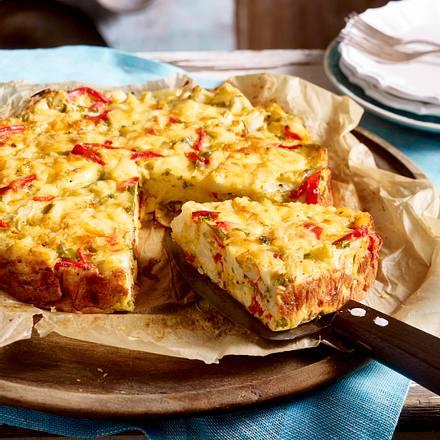 Herzhafter Kuchen mit Blumenkohl und Käse Rezept