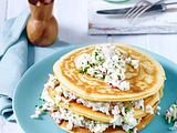 Herzhafter Pancake-Turm Rezept