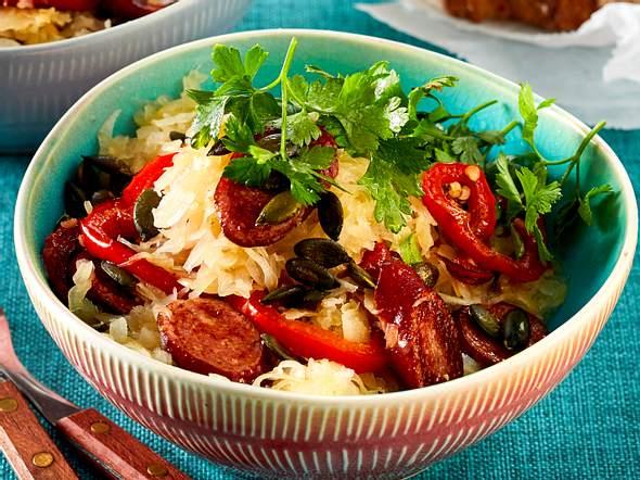 Herzhafter Sauerkrautsalat Rezept