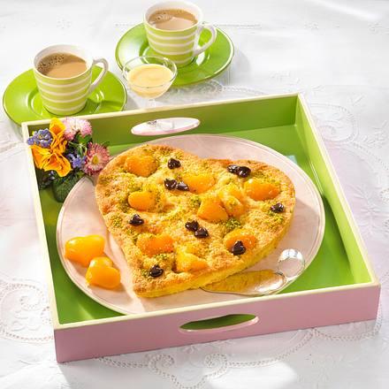 Herziger Pfirsich-Eierlikörkuchen Rezept