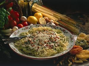 Heu & Stroh (Spaghetti) Rezept