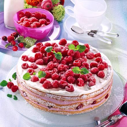 Himbeer-Buttermilch-Torte Rezept