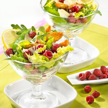 Himbeer-Cocktail mit Geflügelstreifen Rezept