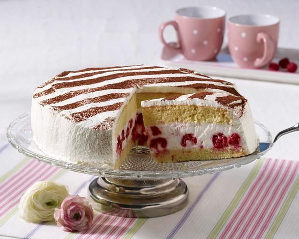 Himbeer-Dickmilch-Torte Rezept