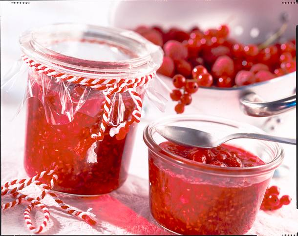 Himbeer-Johannisbeer-Marmelade Rezept
