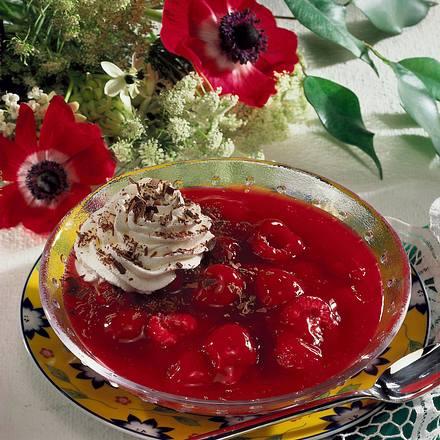 Himbeer-Kirsch-Grütze Rezept