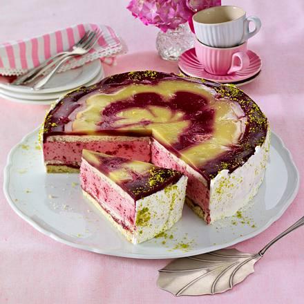 """Himbeer-Kiwi-Torte """"Picasso"""" Rezept"""