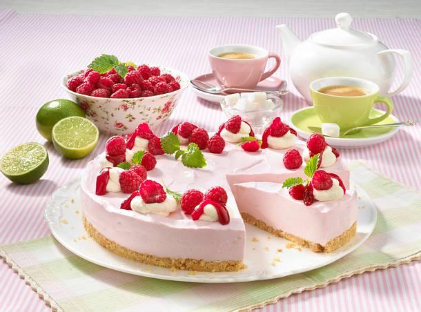 Himbeer-Limetten-Creme-Torte Rezept