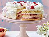 Himbeer-Mascarpone-Torte mit Baisertuffs Rezept
