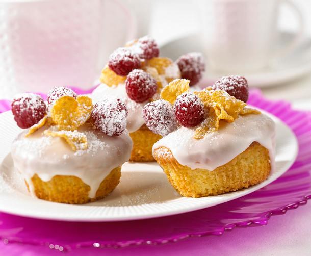 Himbeer-Muffins mit Cornflakes Rezept