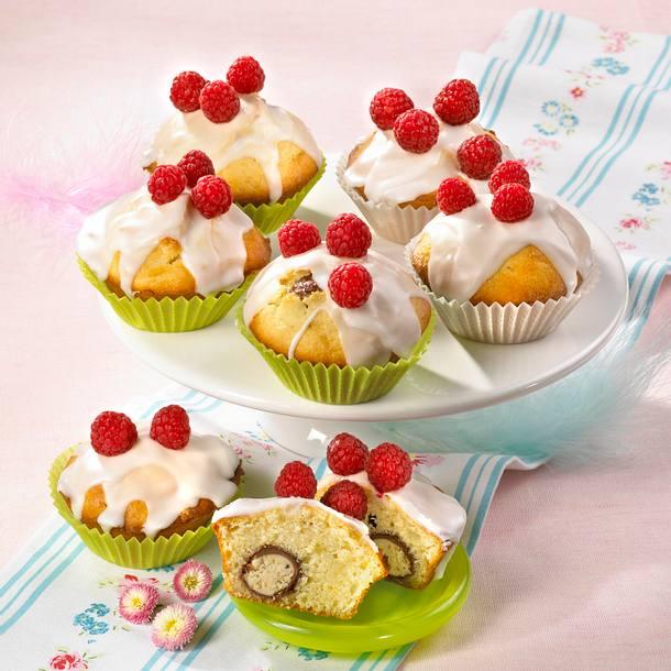 Himbeer-Muffins mit Zuckerguss Rezept
